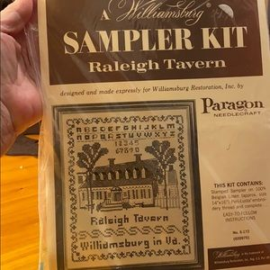 Stamped Cross Stitch Raleigh Tavern Paragon SEALED